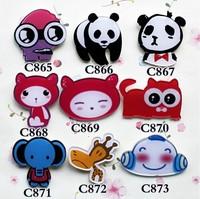 min order is $15 popular new cute Anime lovely  panda cartoon pins cool brooch     min order is $15