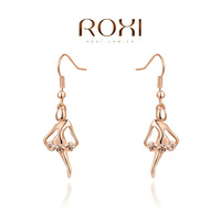 free shipping fashion new arrival,Exquisite gold-plated earrings,dancing girl,women trendy earrings Chrismas /Birthday gift