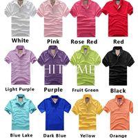Hot Sale!12 Colors Men's Summer Plain Solid Color Shirt Jersey T-shirt Tops Black 4 Sizes # 56930