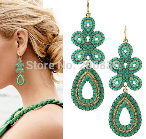Free Shipping New Retail Fashion Elegant Women Bohemia Earring Jewelry Wholesale Fashion Jewelry(China (Mainl