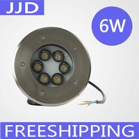 IP68 12V/24V 6*1W LED Underground light, LED Deck Light, led inground light warm white/white/red/gree/blue/RGB
