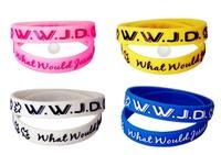 100pcs/lot Hot WWJD silicone wristband jesus silicon bracelet Fashion Christ bangles Adult & Kids sizewholesale