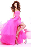 Free shipping new arrival custom chiffon long skirts and A-line skirts to sexy prom dresses