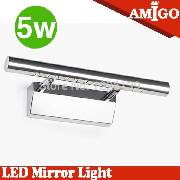Iluminacion Baño Maquillaje:Ac90-265v llevó baño espejo con luz 5 W pared espejo de maquillaje