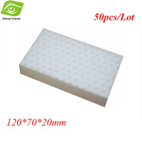 50Pcs/Lot New High Density Magic Sponge Cleaning Eraser 120*70*20mm Melamine Sponge More Stronge