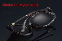 2014 96813 Ladies gradient polarized glasses square frame eyeglasses cc channel sunglasses women goggle gafas oculos de sol