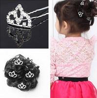 20 Pcs/lot New Fashion Mini Crown Baby Gilrs' Hairpins/ Kids White Hair Sticks Hair Jewelry Hair Accessories
