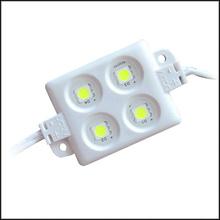 20PCS 5050 4 LED Injection molding Module DC12V waterproof advertisement design lightsRed/Blue/Yellow/White/Green Freeshipping(China (Mainland))