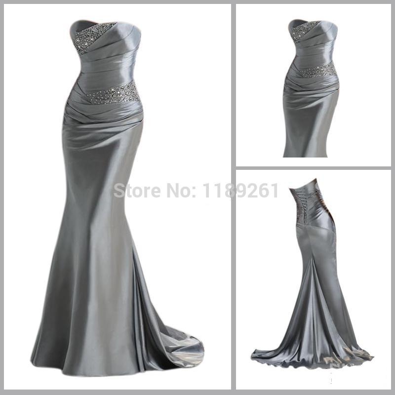wholesale silver bridesmaid dresses