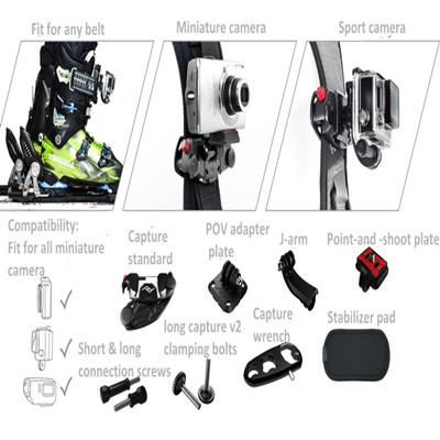 Gopro Acessórios New Desgin Sports Camera Clipe -shoot placa + parafusos para Go J- braço Bracket + Ponto- e pró -herói Black Edition(China (Mainland))