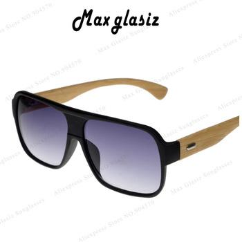 2014 Flat Frame Half Frame Bamboo Wooden Sunglasses Retro Vintage Women/Men Unisex ...