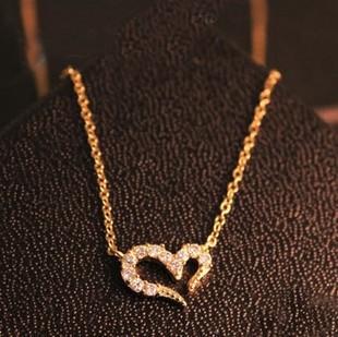 74332 Wishing peach heart Necklace Pendants(China (Mainland))