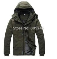 New 2014 autumn Brand Man's Outerwear Slim Hooded cotton Jacket Men Winter Warm Outdoor  Coat  clothes parka plus size L-4XL