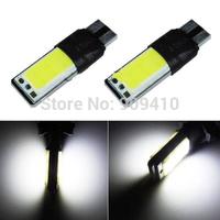 Free shipping 50 pcs Super White 10 WATT COB LED light T10 194 168 W5W 2X5W SMD CAR LED lights auto led clearance lights