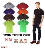 2014 new big spike classic FP lapel short-sleeved men's fashion casual Slim