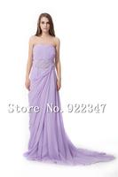 Free Shipping 2014  long evening dresses crystal custom made fashion dresses chiffon elegant dress