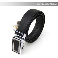 2014 New Genuine Leather Belt Automatic Buckle Black Belt Men's Leather Belt Big Size 44-52 Free Shipping YD20140529010