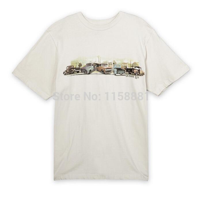 2014 Summer shirt Good quality 100% Cotton car image printed man/men t shirt Don't fade after washing Free shipping(China (Mainland))