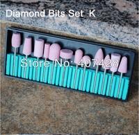 12size ceramic nail drill bits set wholesell 20pack / set