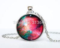 1pcs Eagle Nebula pendant silver Nebula jewelry Galaxy necklace Glass Cabochon Necklace A0097