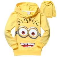 2014 despicable me 2 minion boys t shirt girls nova t-shirts kids children t shirts child Spring hoodies Tops & Tees