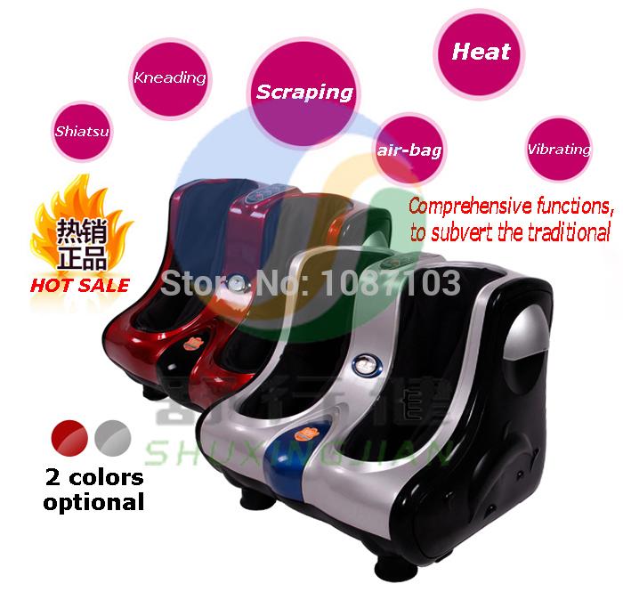 kneading rolling shiatsu leg massager air bag foot massage machine(China (Mainland))