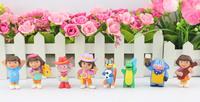 NEW Anime Cartoon Dora The Explorer Benny cattle PVC Action Figure Collection Model Toys 8pcs/set