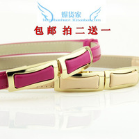 All-match leather bag buckle women's belt fashion buckle adjust strap thin belt decoration