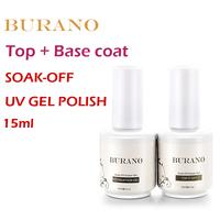 2pcs/lot UV nail Soak Off Uv Gel Polish Top coat gel+basecoat gel nail kit 15ml 0.5oz