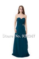 Free Shipping  custom made fashion dresses vintage long evening dresses 2014 chiffon elegant dress