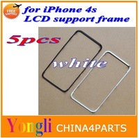 5pcs white Lcd & touch screen frame front bezel supporting bracket for iPhone 4s free shipping