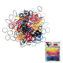 500pcs/lot Multi-color Women Girl DIY Hair Styling Rubber Hairband Rope Ponytail Holder Elastic Hair Band Ties Braids