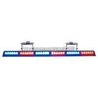 High brightness LED dash lights, LED warning light, 6 modules TIR-6 1W LED, 15 flash patterns, sucker install