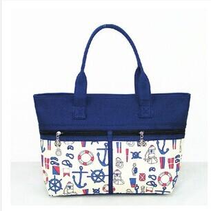 2014 New women fashion print canvas ocean style handbag large capacity totes shoulder bag casual shopping bags RJ291(China (Mainland))