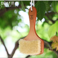 New Natural Body Bristle Bath Brush Massager Bath Shower Back Spa Scrubbe Wooden beech bath sponge 20x11cm gift box