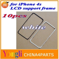 10pcs white Lcd & touch screen frame front bezel supporting bracket for iPhone 4s free shipping