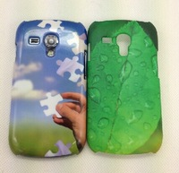 3D heat sublimation phone cases for galaxy S3 mini 8190 DIY personality phone covers dirt-resistant phone cases