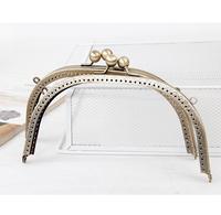 Track shipping 3pcs/lot  20cm Kiss Lock Antique Brass Bronze /Metal Frame for Handbag with Handle