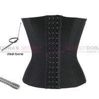 Plus Size Corsets And Bustiers Black Steel Shaper Waist Cincher Underbust Corset Latex Waist Cincher Cropped Tops For Women