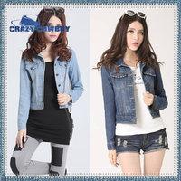 New  Arrival Summer Slim Jacket Women's Short Outwear female fashion long sleeve denim coat CC-1001