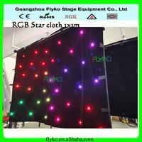 Free shipping star cloth 2x3m led star vision curtain