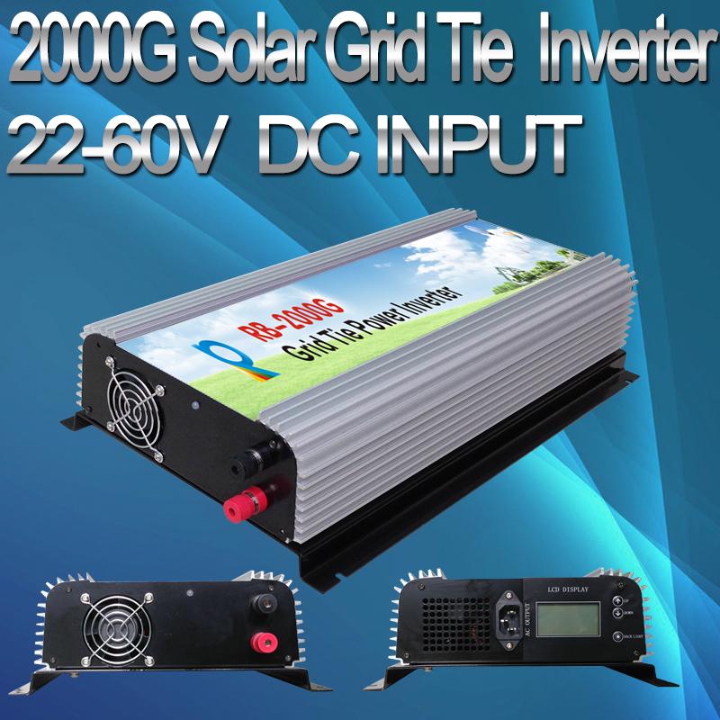 G Serie 2000W DC45V~90V, AC 180V~260V LCD Display Solar Grid Tie Inverter For Solar System(China (Mainland))
