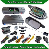 cardot new two way car alarm system is with remote start,timer start,auto start modes,dual stages shock alarm,remote pager