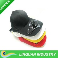 Solar Cap/Solar Fan/sunbonnet High quality cotton cap/Baseball cap/ which can print advertise on the front