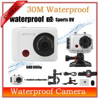 2014 New Action Sport Camera F26 30M waterproof Full HD 1080P 30FPS H.264+waterproof case Video Helmet camera Free shipping
