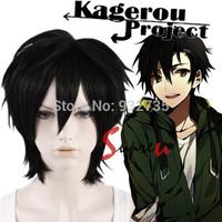 Kagerou Project Kousuke Seto Black Short Anime Cosplay Wig