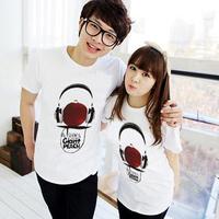 New mens Tee Summer new  Slim short white T-shirt free shipping