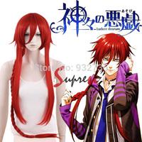 Kamigami no Asobi / ludere deorum Loki Laevatein Red Anime Cosplay Wig