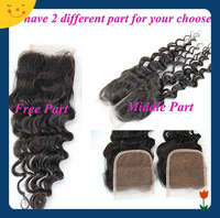 Malaysian Curly Hair Closure Lace Closure 4x4 Middle 3 Way Part Bleached Knots JulietHair Top Closure