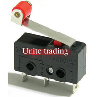20pcs/lot New Micro Roller Lever Arm Normally Open Close Limit Switch KW12-3